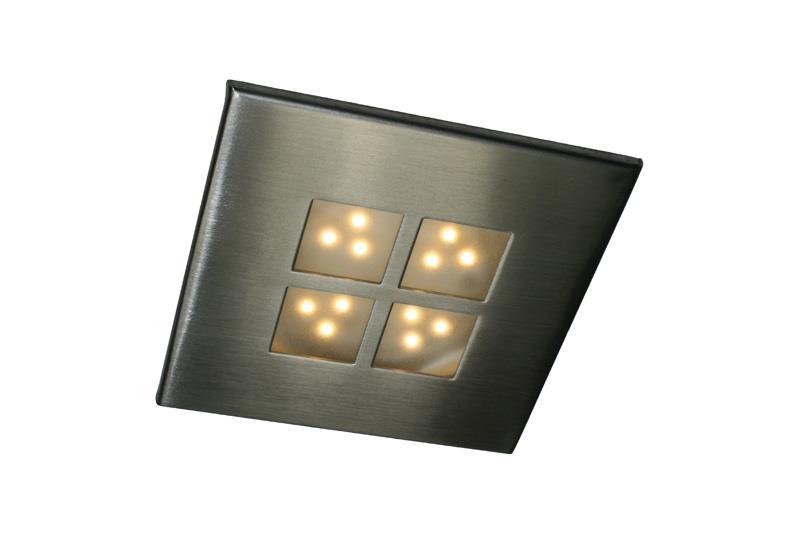 GAMMA 12V 50 LUMEN, vierkante inbouw spot