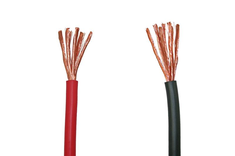 Accu kabel  1 x 16mm² rood 25mtr